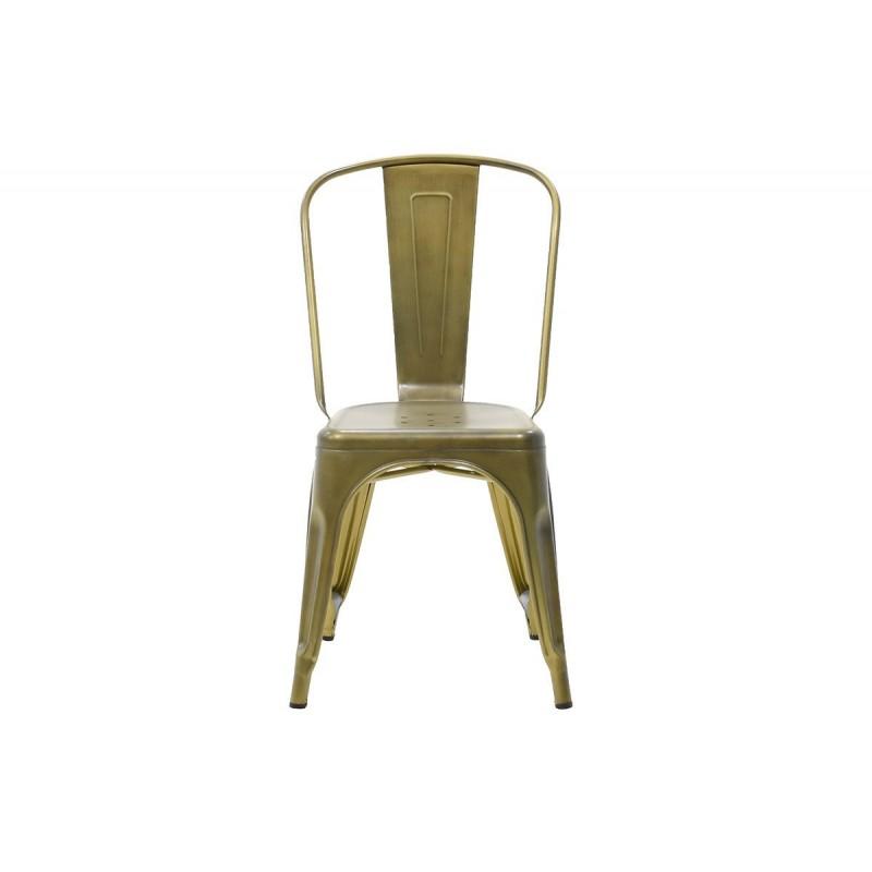 """Καρέκλα """"UTOPIA"""" μεταλλικήσε  χρώμα χρυσό μαύρο 50x44x84"""