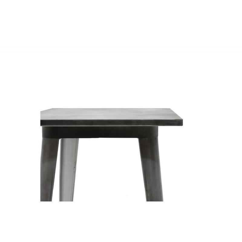 """Τραπέζι μπαρ """"UTOPIA"""" μεταλλικό σε χρώμα μαύρο ασημί 60x60x101"""