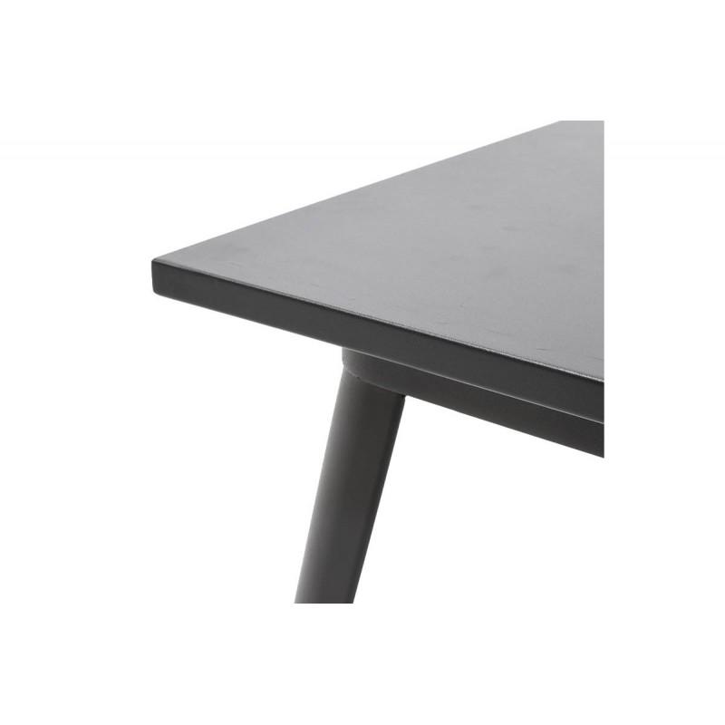 """Τραπέζι """"UTOPIA"""" μεταλλικό σε χρώμα μαύρο 120x70x75,5"""