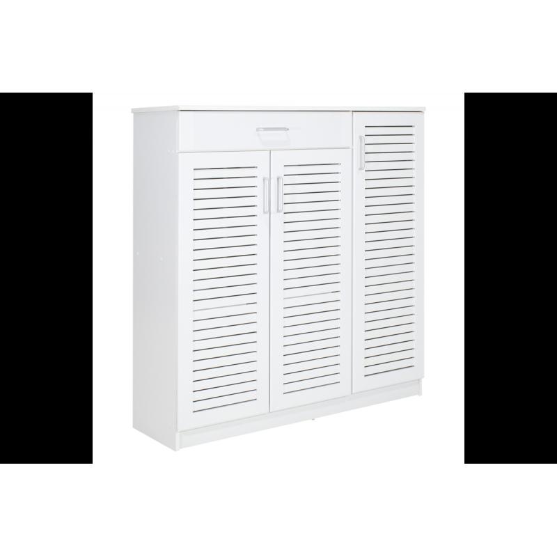 """Παπουτσοθήκη-ντουλάπι """"SANTE"""" σε χρώμα λευκό 120x40x123"""