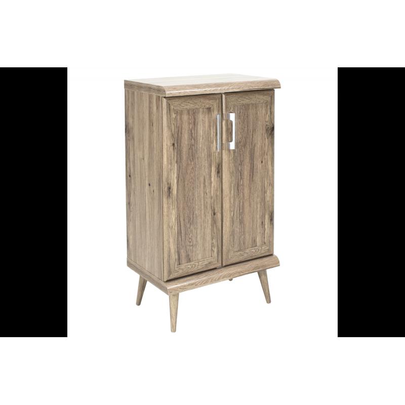 """Παπουτσοθήκη-ντουλάπι """"RICARDO"""" σε χρώμα δρυς 60x40x105"""