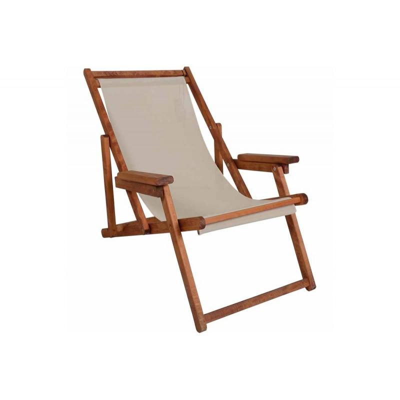 """Σεζλόνγκ """"ARETI"""" μασίφ ξύλο οξιάς σε χρώμα κερασί 66x120x82"""