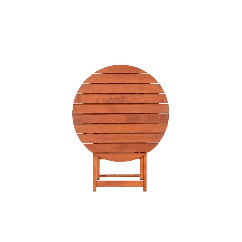 """Τραπέζι """"ARETI"""" πτυσσόμενο απο μασίφ ξύλο οξιάς σε χρώμα κερασί Φ80x71"""