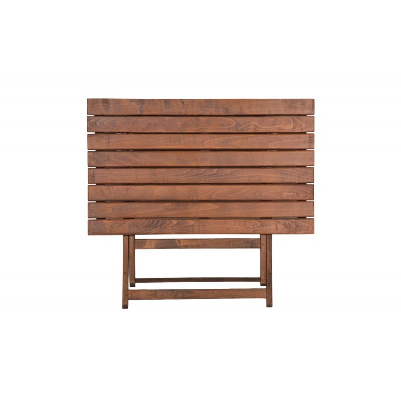 """Τραπέζι """"ARETI"""" πτυσσόμενο απο μασίφ ξύλο οξιάς σε χρώμα καρυδί 60x80x71"""