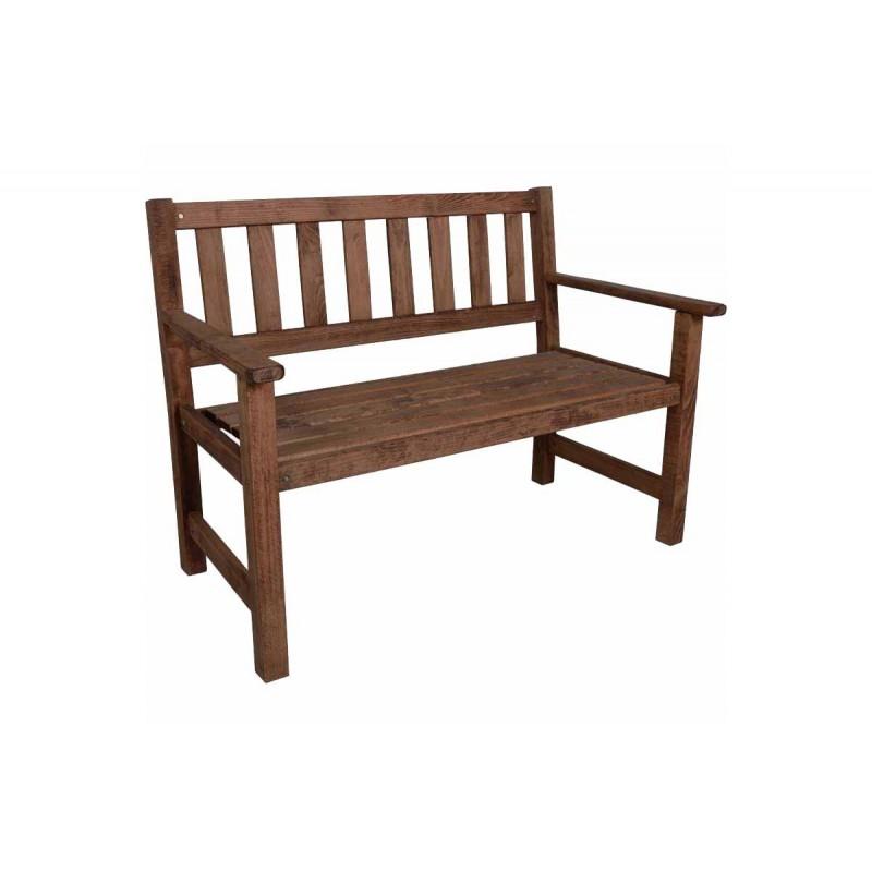 """Παγκάκι """"ARETI"""" διθέσιο απο μασίφ ξύλο οξιάς σε χρώμα καρυδί 115x65x85"""