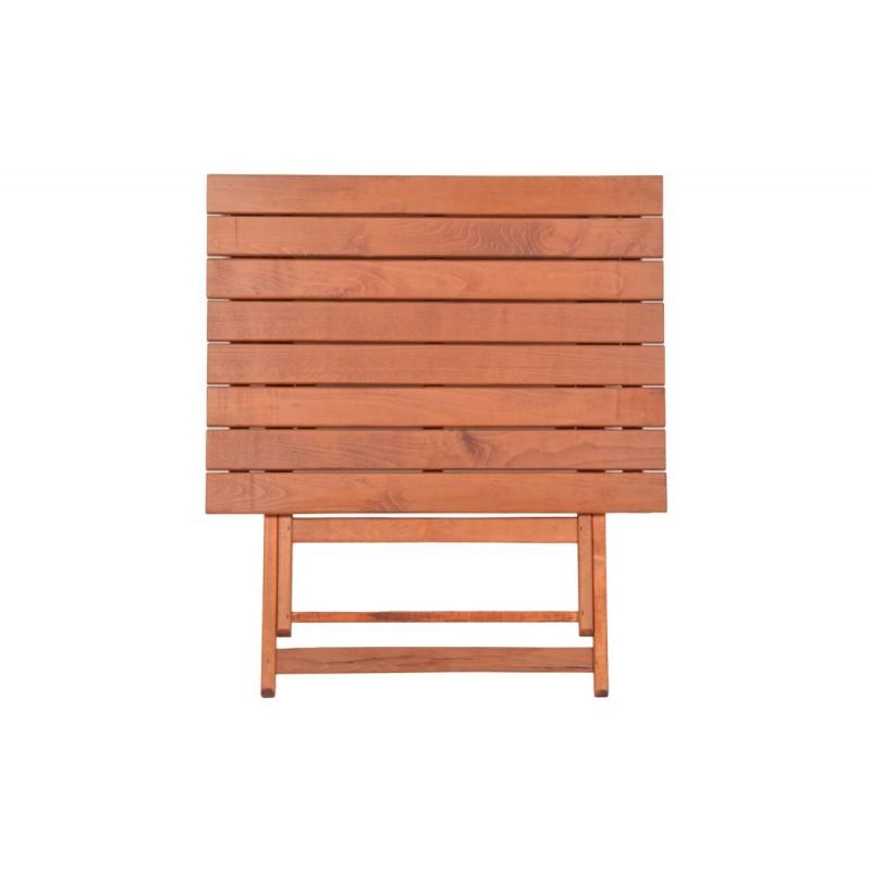 """Τραπέζι """"ARETI"""" πτυσσόμενο απο μασίφ ξύλο οξιάς σε κερασί χρώμα 60x100x71"""
