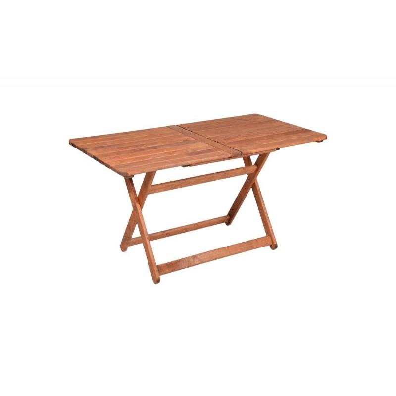 """Τραπέζι """"ARETI"""" πτυσσόμενο απο μασίφ ξύλο οξιάς σε κερασί χρώμα 80x140x71"""