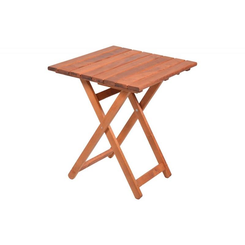 """Τραπέζι """"ARETI"""" πτυσσόμενο απο μασίφ ξύλο οξιάς σε χρώμα κερασί 60x60x71"""