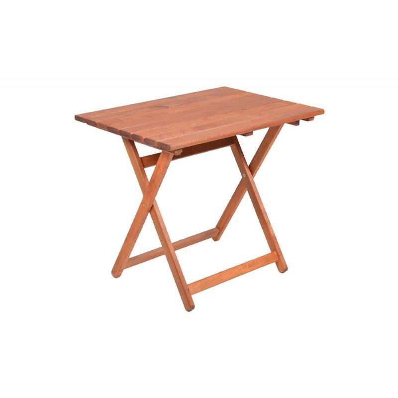 """Τραπέζι """"ARETI"""" πτυσσόμενο απο μασίφ ξύλο οξιάς σε κερασί χρώμα 60x80x71"""