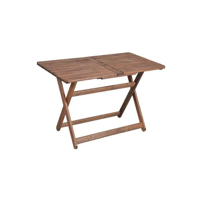 """Τραπέζι """"ARETI"""" πτυσσόμενο απο μασίφ ξύλο οξιάς σε χρώμα καρυδί 80x140x71"""
