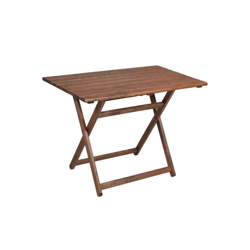 """Τραπέζι """"ARETI"""" πτυσσόμενο απο μασίφ ξύλο οξιάς σε χρώμα καρυδί 60x100x71"""