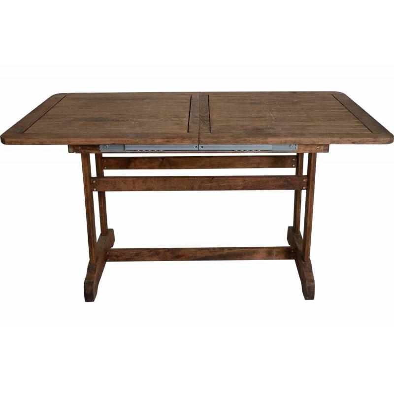 """Τραπέζι """"ARETI"""" επεκτεινόμενο απο μασίφ ξύλο οξιάς σε καρυδί χρώμα 140+40x80x71"""