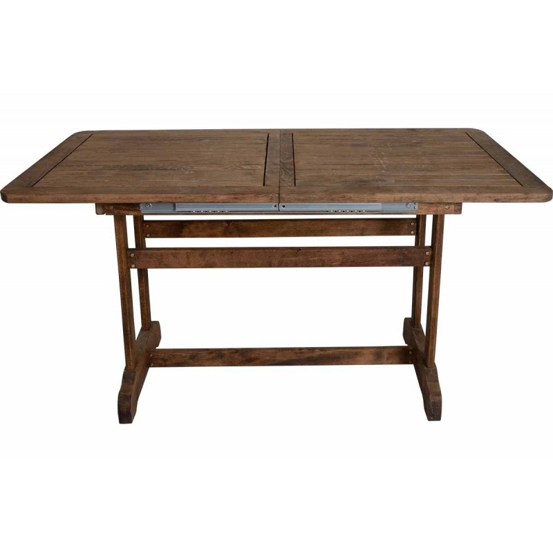 """Τραπέζι """"ARETI"""" επεκτεινόμενο απο μασίφ ξύλο οξιάς σε κερασί χρώμα 140+40x80x71"""