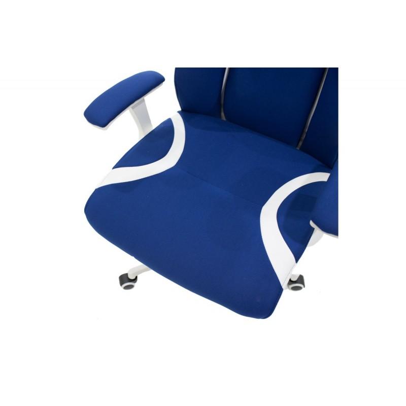 """Πολυθρόνα διευθυντή """"MOMENTUM"""" από ύφασμα mesh σε χρώμα μπλε 60x65x120/129"""