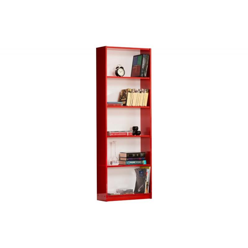 """Βιβλιοθήκη """"MAX"""" σε κόκκινο χρώμα 58x23x170"""