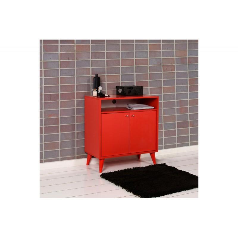 """Ντουλάπι-Παπουτσοθήκη """"LONDON"""" σε κόκκινο χρώμα 72x40x79"""