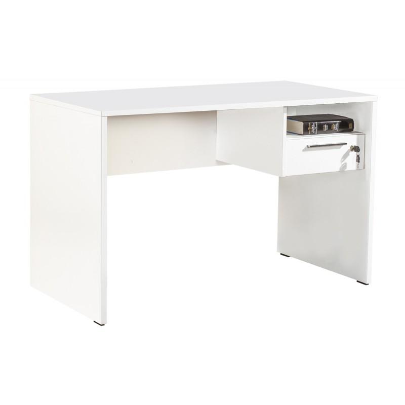 """Γραφείο """"CONCEPT"""" με συρτάρι χρώματος λευκό 120x60x75"""