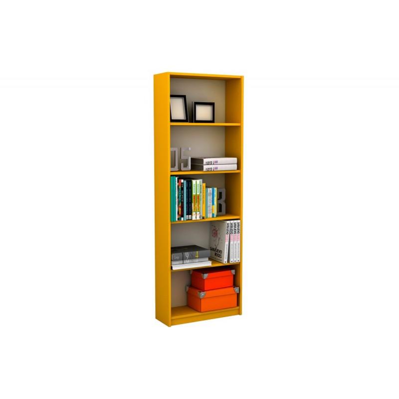 """Βιβλιοθήκη """"MAX"""" σε κίτρινο χρώμα 58x23x170"""