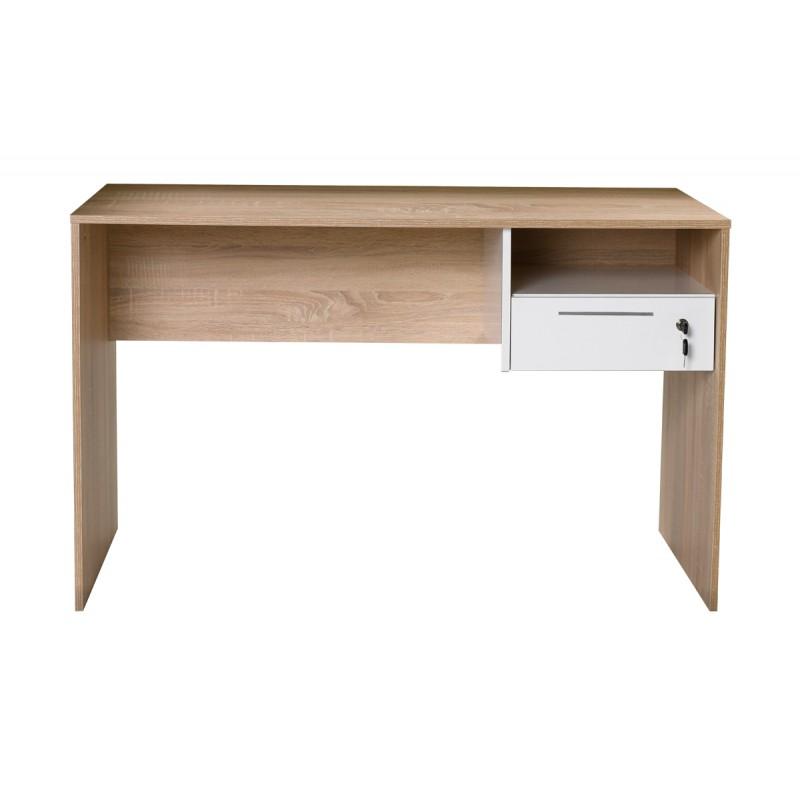 """Γραφείο """"CONCEPT"""" με συρτάρι χρώματος σονόμα-λευκό 120x60x75"""