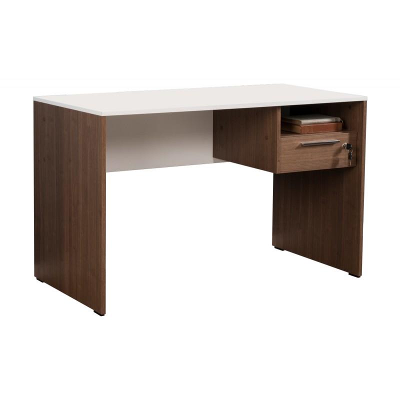 """Γραφείο """"CONCEPT"""" με συρτάρι χρώματος καρυδιά noce-λευκό 120x60x75"""