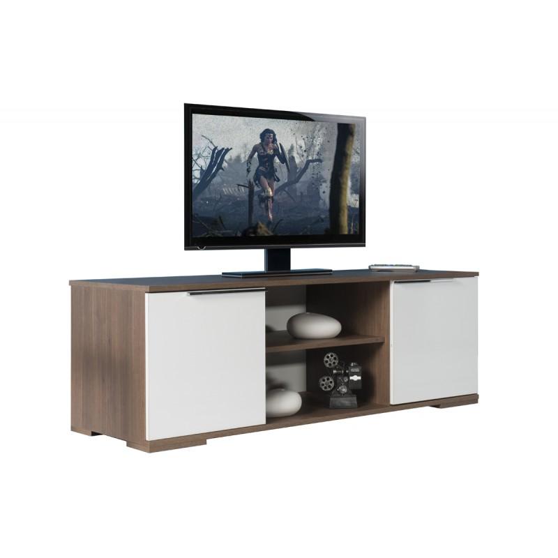 """Έπιπλο τηλεόρασης """"FLAT LINE"""" σε χρώμα καρυδί noce-λευκό 140x45x47"""