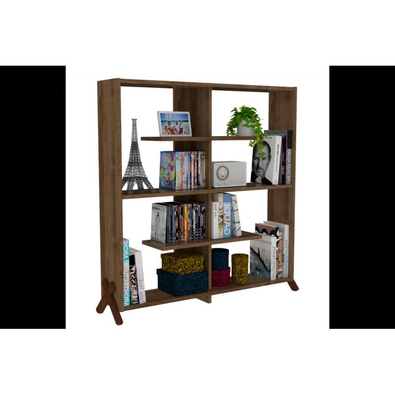 """Βιβλιοθήκη """"KIPP"""" σε χρώμα καρυδί 113x28x115"""