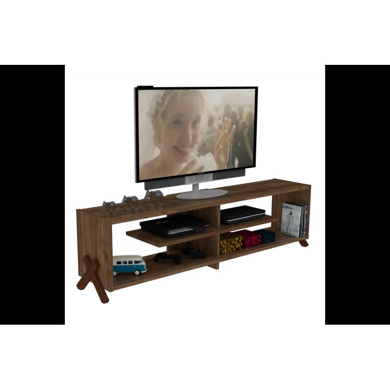 """Έπιπλο τηλεόρασης """"KIPP"""" σε χρώμα  καρυδί 145x31x39"""