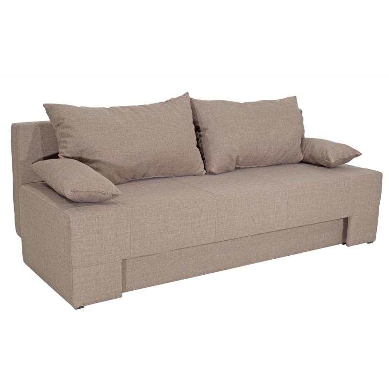 "Kαναπές-κρεβάτι ""SUNNY"" τριθέσιος υφασμάτινος σε χρώμα μπεζ 195x82x84"