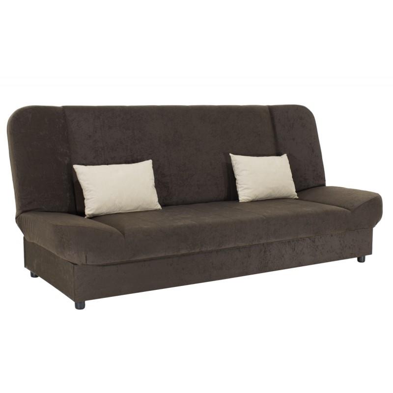 "Kαναπές-κρεβάτι ""TIKO"" τριθέσιος υφασμάτινος σε χρώμα καφέ 198x85x90"