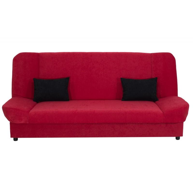 "Kαναπές-κρεβάτι ""TIKO"" τριθέσιος υφασμάτινος σε κόκκινο χρώμα 198x85x90"