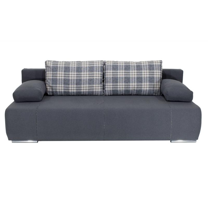 "Kαναπές-κρεβάτι ""VICTOR"" τριθέσιος υφασμάτινος σε χρώμα ανθρακί 200x100x80"