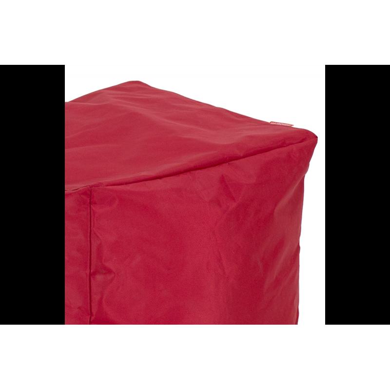 """Πουφ σκαμπώ """"CUBE"""" υφασμάτινο σε χρώμα κόκκινο 45x45x43"""