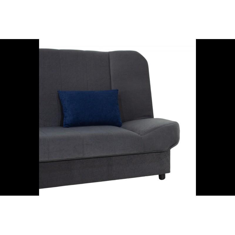 "Kαναπές-κρεβάτι ""TIKO"" τριθέσιος υφασμάτινος σε ανθρακί χρώμα 198x85x90"
