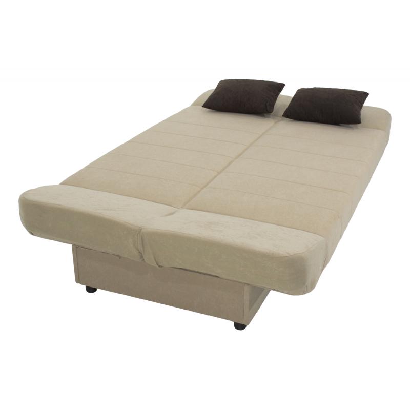 "Kαναπές-κρεβάτι ""TIKO"" τριθέσιος υφασμάτινος σε μπεζ χρώμα 198x85x90"