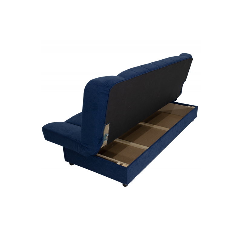 "Kαναπές-κρεβάτι ""TIKO"" τριθέσιος υφασμάτινος σε μπλέ σκούρο χρώμα 198x85x90"
