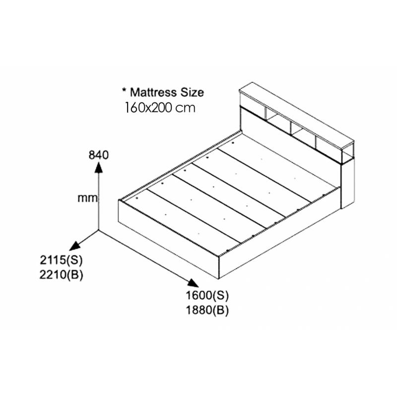 """Κρεβάτι """"OLYMPUS"""" διπλό σε χρώμα βέγγε 167,50x221x84"""