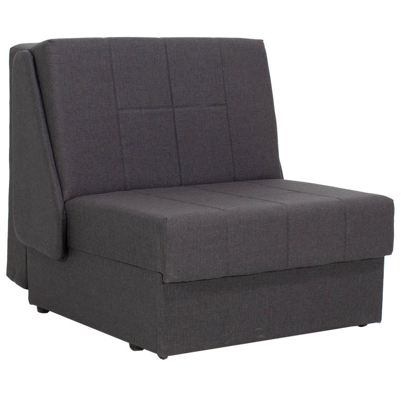 """Πολυθρόνα-κρεβάτι """"MIAMI"""" υφασμάτινη σε χρώμα ανθρακί 88x108x91"""