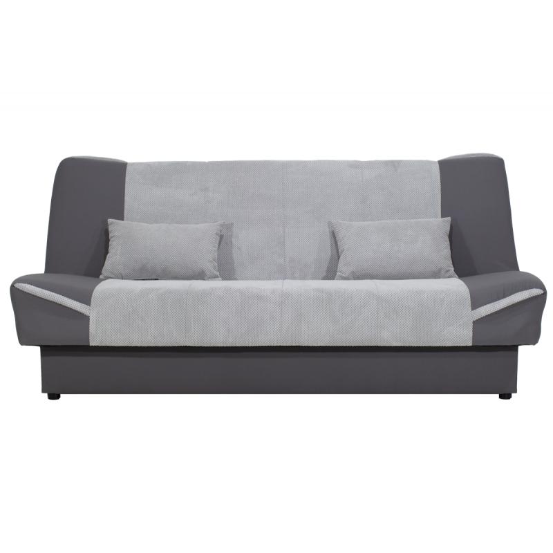 "Kαναπές-κρεβάτι ""TINA"" τρθέσιος υφασμάτινος γκρι-ανθρακί 204,5x104x96,5"