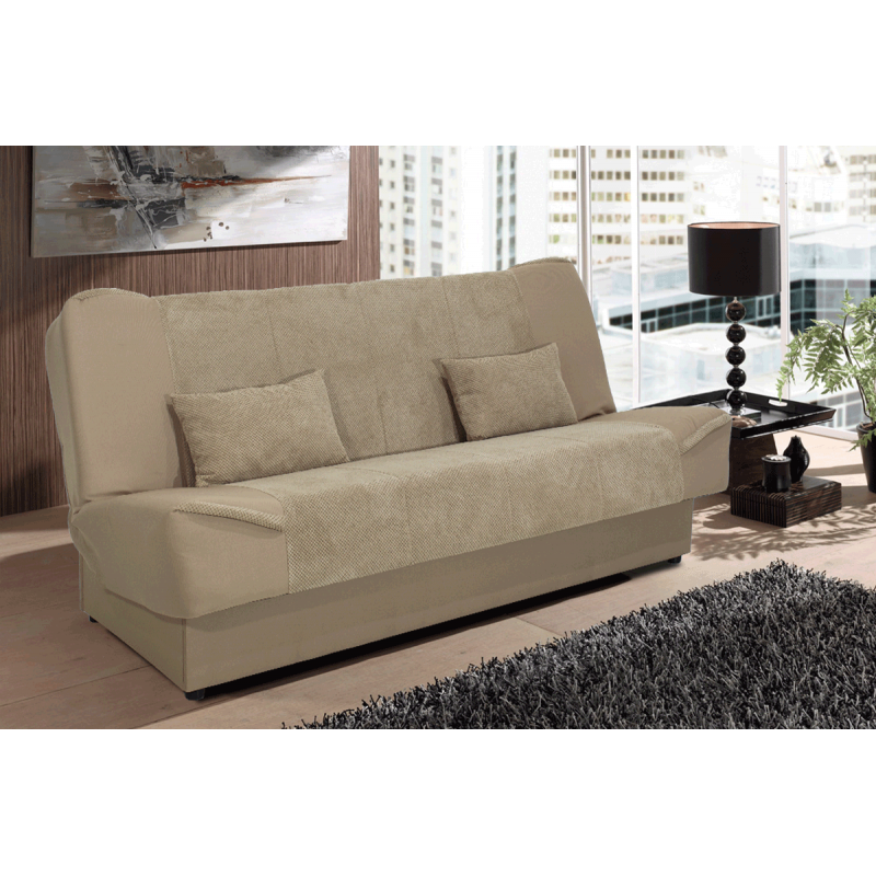 "Kαναπές-κρεβάτι ""TINA"" τρθέσιος υφασμάτινος μπεζ 204,5x104x96,5"