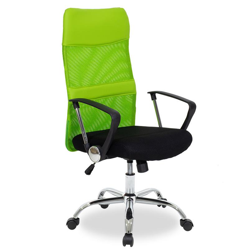 """Καρέκλα διευθυντή """"JOEL"""" με ύφασμα mesh χρώμα μαύρο-πράσινο 60x48x106/114"""