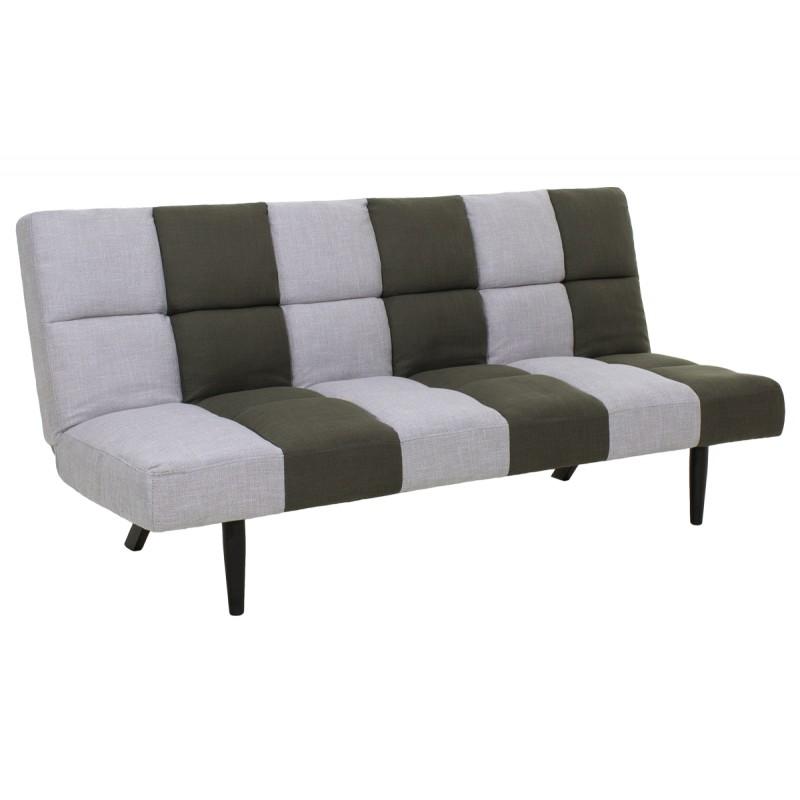 """Καναπές-κρεβάτι 3θέσιος """"FREDDY"""" υφασμάτινος χρώμα γκρι-χακί 182x81x84"""