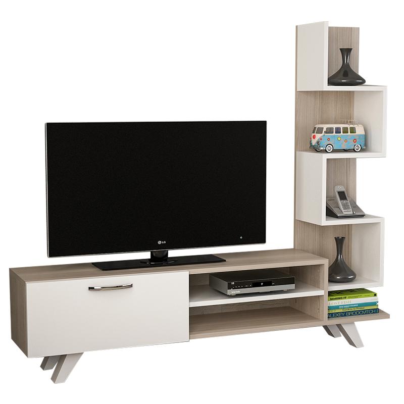 """Σύνθεση τηλεόρασης """"CEREN TV"""" σε χρώμα σονόμα-λευκό 149,5x29,5x131,5"""