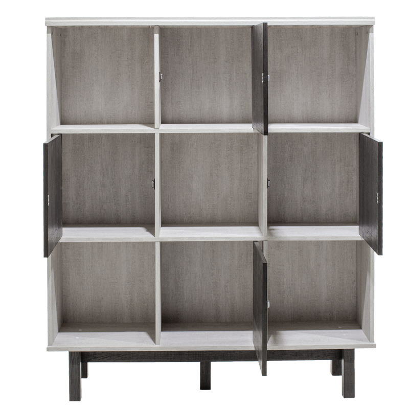 "Bιβλιοθήκη ""BONITO"" σε χρώμα λευκό wash-βέγγε emboss 119,5x30x140"