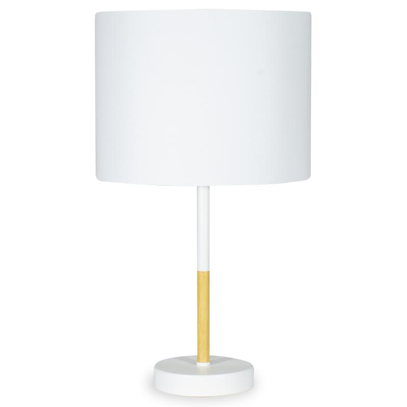 """Επιτραπέζιο μεταλλικό φωτιστικό """"PWL-0012"""" με λευκό καπέλο Φ25x45"""