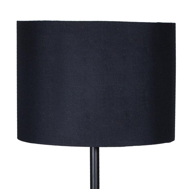 """Επιτραπέζιο μεταλλικό φωτιστικό """"PWL-0012"""" με μαύρο καπέλο Φ25x45"""