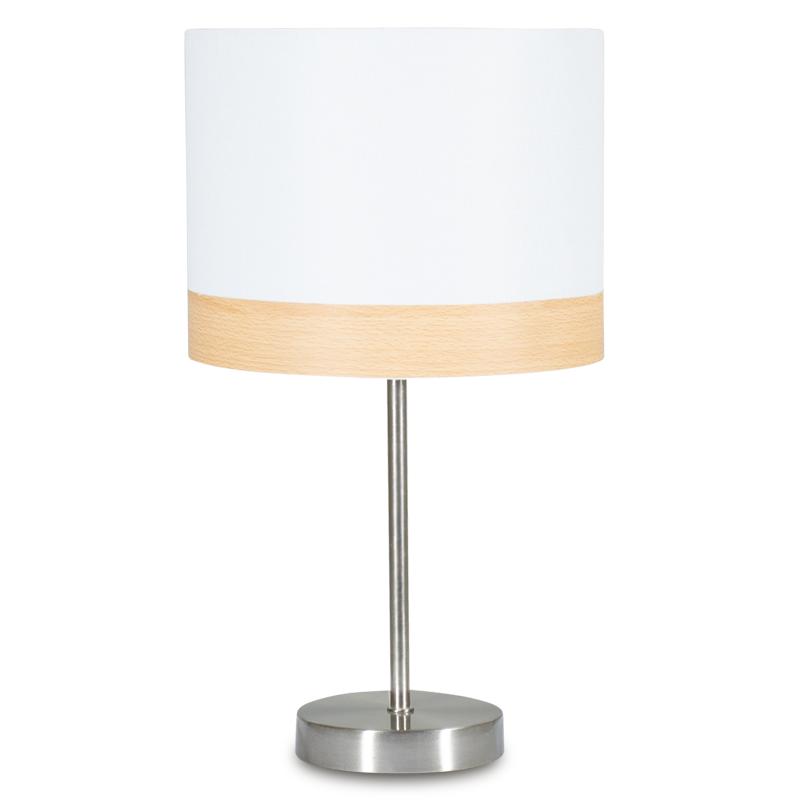 """Επιτραπέζιο μεταλλικό φωτιστικό """"PWL-0015"""" με λευκό καπέλο Φ23x41"""