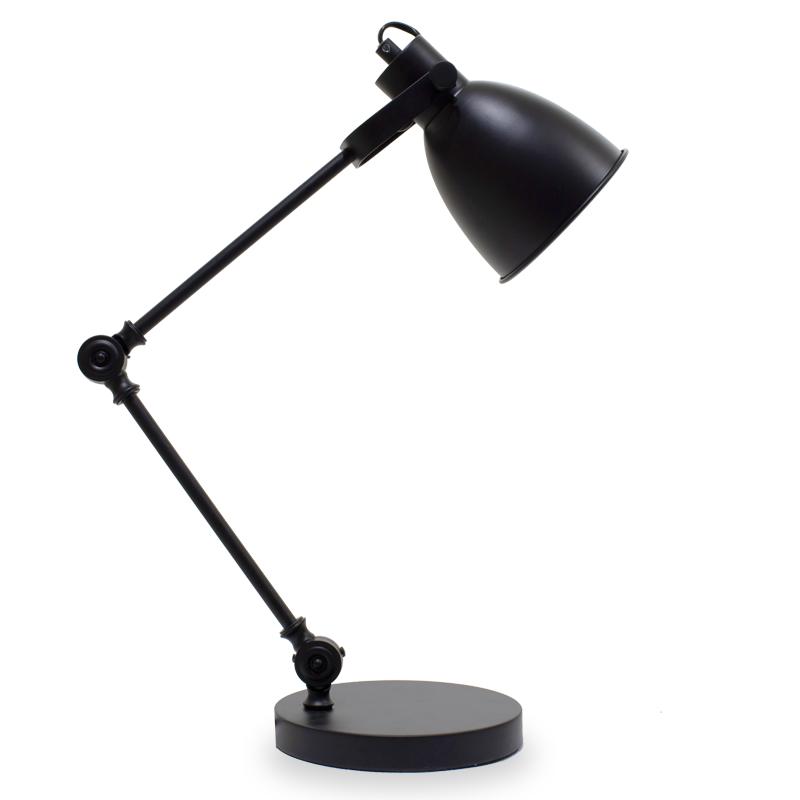 """Φωτιστικό γραφείου """"PWL-0001"""" σε χρώμα μαύρο ματ Φ18x34/67"""
