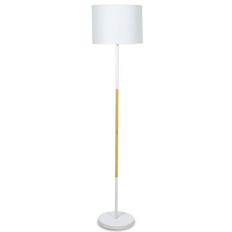 """Φωτιστικό δαπέδου μεταλλικό """"PWL-0005"""" σε λευκό χρώμα Φ33x149"""