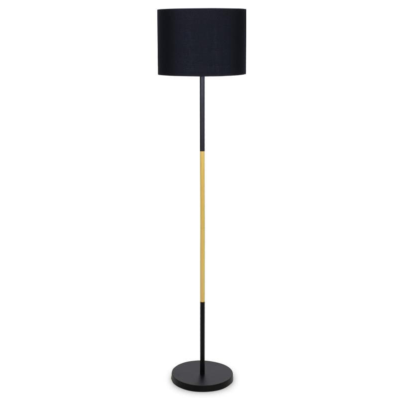 """Φωτιστικό δαπέδου μεταλλικό """"PWL-0005"""" σε μαύρο χρώμα Φ33x149"""