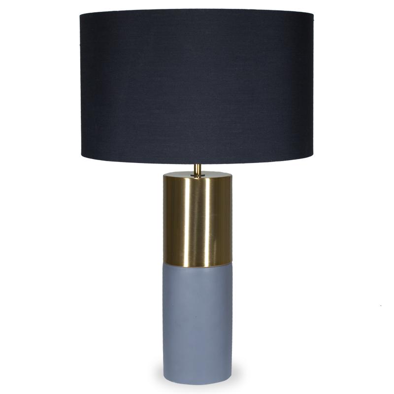 """Επιτραπέζιο μεταλλικό μπρονζέ φωτιστικό """"PWL-0013"""" με μαύρο καπέλο Φ39,5x63"""